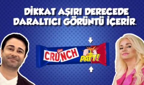 Atilla Taş'lı Banu Alkan'lı Beyin Patlatan Crunch Reklamı